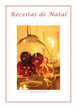 e-livro, Receitas de Natal