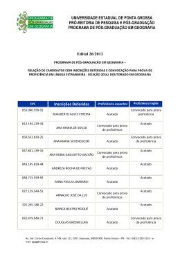 Edital 26/2013 - Universidade Estadual de Ponta Grossa