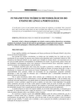fundamentos teórico-metodológicos do ensino de língua - SED