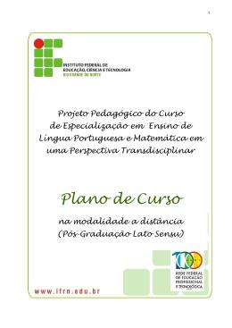 Projeto Político Pedagógico - IFRN