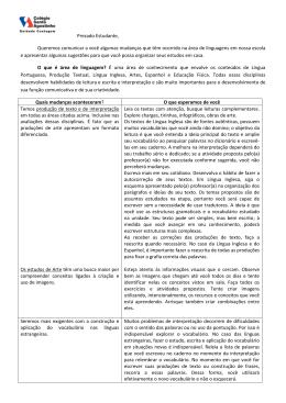 Como organizar os estudos de Inglês, Espanhol, Produção de Texto