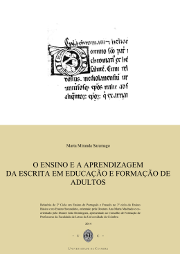 o ensino e a aprendizagem da escrita em educação