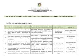 Projetos de Iniciação Científica PIBIC/CNPq 2014/2015