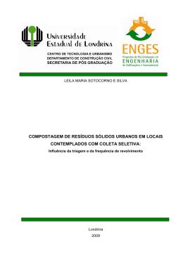 compostagem de resíduos sólidos urbanos em locais