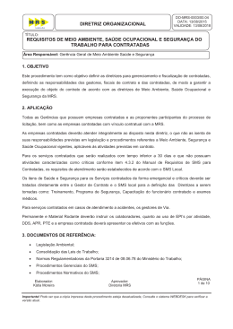 DO-MRS-0003 - Requisitos SMS para Contratadas