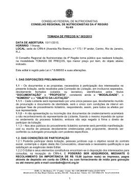 CARTA - CONVITE Nº 001/2010