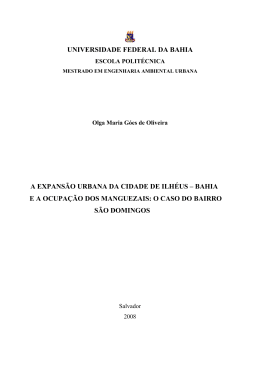 universidade federal da bahia a expansão urbana da cidade de ilhéus