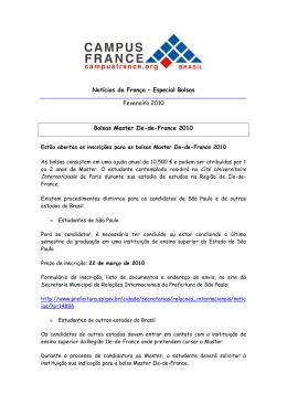 Notícias da França_fevereiro 2010