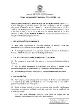 EDITAL DO CONCURSO NACIONAL DE REMOÇÃO 2008 - TRT-ES