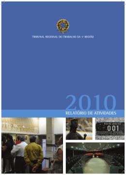 relatório de atividades - Portal do Tribunal Regional do Trabalho da