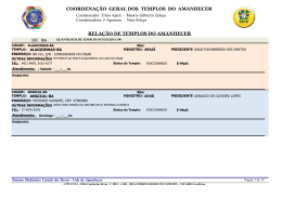 COORDENAÇÃO GERAL DOS TEMPLOS DO AMANHECER