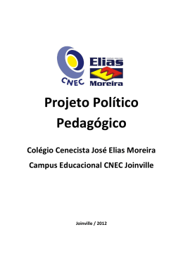 Projeto Político Pedagógico - Colégio Cenecista José Elias Moreira