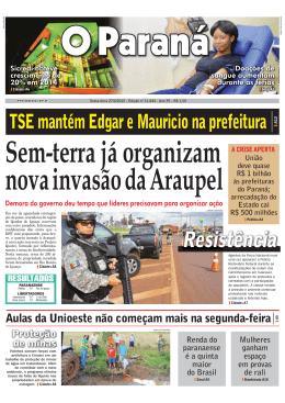 Sem-terra já organizam nova invasão da Araupel