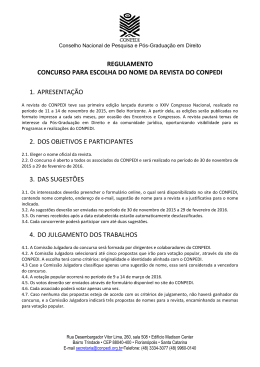 REGULAMENTO CONCURSO PARA ESCOLHA DO