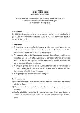 Regulamento do concurso para a criação da imagem gráfica das