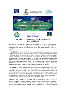 CONCURSO PARA ESTUDANTES DE ENGENHARIA