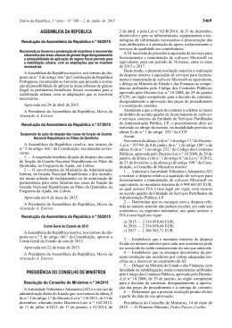 3469 ASSEMBLEIA DA REPÚBLICA PRESIDÊNCIA