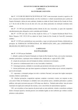 ESTATUTO CLUBE DE ORIENTAÇÃO POTIGUAR CAPÍTULO I DA