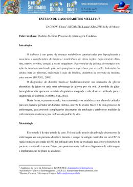 ESTUDO DE CASO DIABETES MELLITUS