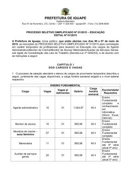 edital processo seletivo simplificado nº 01/2015