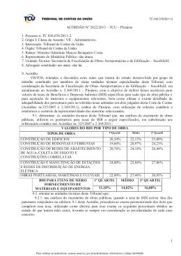 1 ACÓRDÃO Nº 2622/2013 – TCU – Plenário 1. Processo n. TC