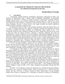 A experiência do Tribunal de Contas da União do Brasil na