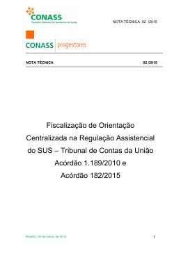Fiscalização de Orientação Centralizada na Regulação
