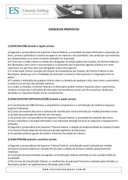 EXERCÍCIOS PROPOSTOS - Professor Eduardo Sabbag