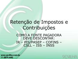 Retenção de Impostos e Contribuições