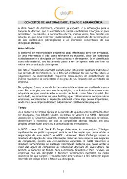 CONCEITOS DE MATERIALIDADE, TEMPO E ABRANGÊNCIA