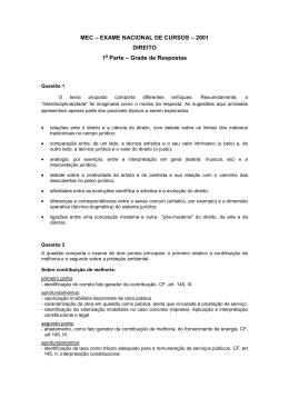 EXAME NACIONAL DE CURSOS – 2001 DIREITO 1a Parte