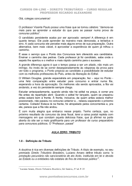 CURSOS ON-LINE – DIREITO TRIBUTÁRIO – CURSO REGULAR