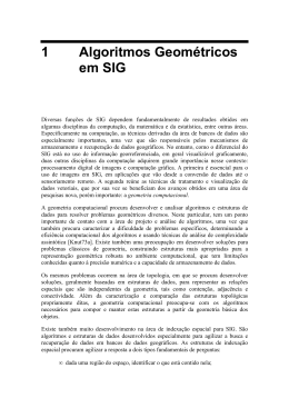 1 Algoritmos Geométricos em SIG