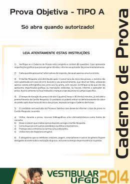 Prova de Conhecimentos Gerais PSV-2014/UFGD