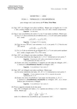 GEOMETRIA I – LMAC FICHA 4 - Departamento de Matemática