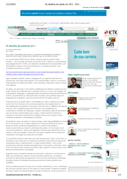 Leia o artigo na íntegra publicado no Saude Business Web