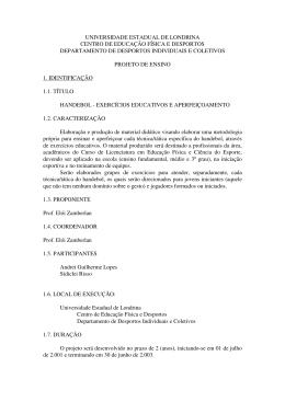 Handebol Exerciciso Educativos