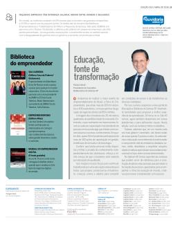 Educação, fonte de transformação - Sebrae-SP
