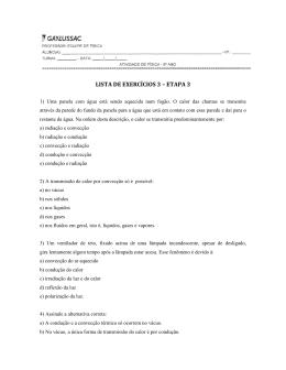 LISTA DE EXERCÍCIOS 3 – ETAPA 3