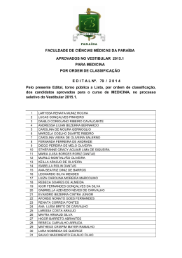 Resultado do vestibular 2015.1 - Medicina