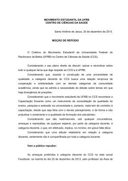 Versão em PDF da Moção de Repúdio - ME-UFRB (CCS-SAJ)