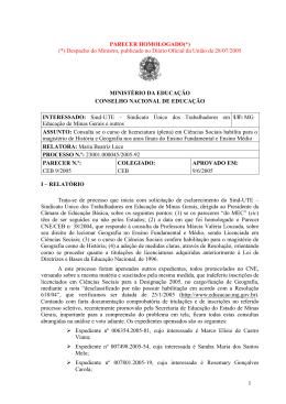 Parecer CNE/CEB nº 9/2005, aprovado em 9 de junho de 2005
