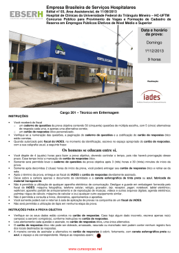 técnico de enfermagem - hc - uftm -mg