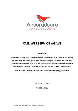 XML WEBSERVICE AGIWS