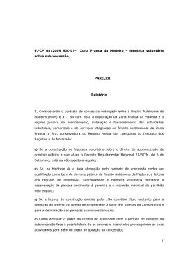 P.ºCP 65/2009 SJC-CT- Zona Franca da Madeira – hipoteca