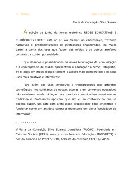 EDITORIAL ANO 3 EDIÇÃO 17 Maria da Conceição Silva Soares A