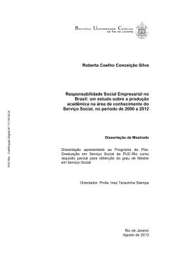 Roberta Coelho Conceição Silva Responsabilidade Social