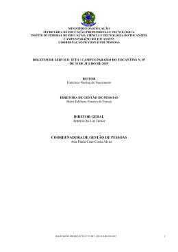 Jul - Instituto Federal do Tocantins
