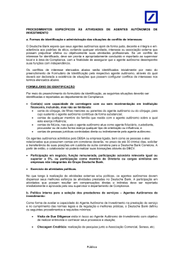 conjunto de regras, procedimentos e controles
