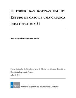 ESTUDO DE CASO DE UMA CRIANÇA COM TRISSOMIA 21